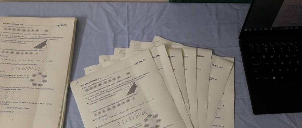 Kết quả kiểm tra Toán tiếng Anh lần 1/2016